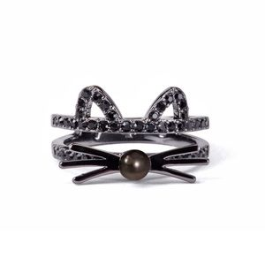 Kate Spade Out West Black Cat Ring